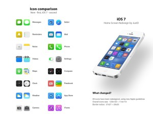iOS 7 icon design comparison