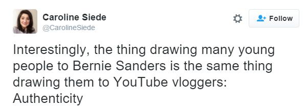 Bernie Sanders authenticity