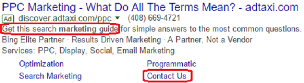 advertisement copy example for ppc lead generation